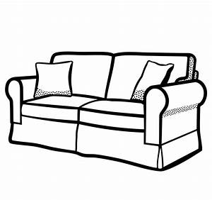 Clipart - sofa - lineart