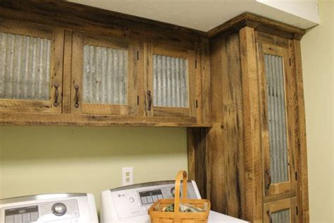 barn door style kitchen cabinets rustic cabinet reclaimed barn wood w tin doors 7598