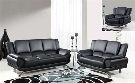 contemporary sofas and loveseats geneva 2pc black modern leather sofa set sofa and