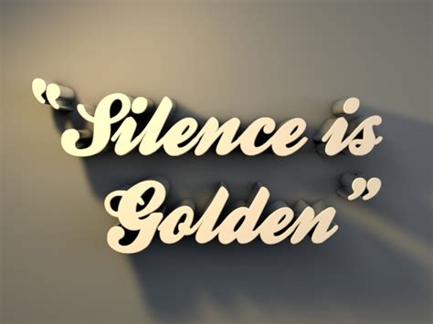 short paragraph essay  silence  golden