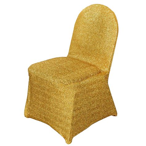 10 gold metallic spandex chair covers slipcovers wedding