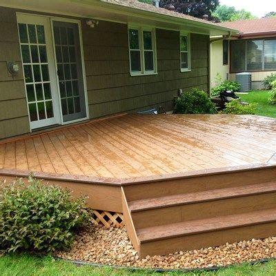 ground level deck picture  deckscom