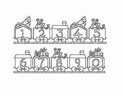 Coloring Number Pages Printable Numbers Train Bestcoloringpagesforkids