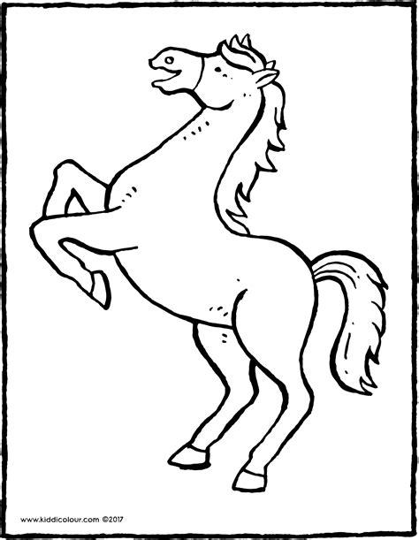 Kleurplaat Je Eien Zeepbel by Ein Steigendes Pferd Kiddimalseite