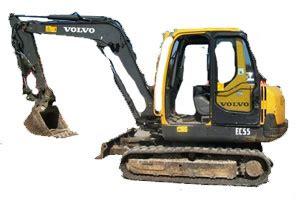 volvo ec mini excavator parts tracks