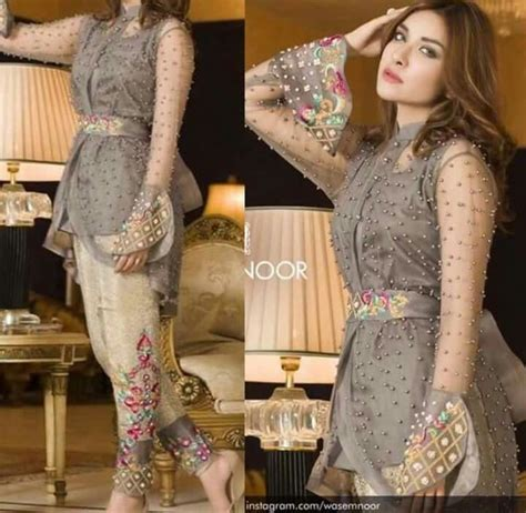 pakistani embriodered net shirt  trouser  images