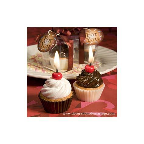 bougie cupcake chocolat vanille