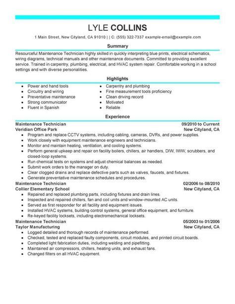 28 sle resume for engineer survivingmst org 7 best industrial maintenance resumes images on pinterest