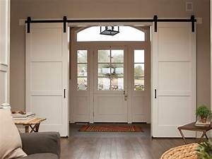 the diy sliding barn door ideas for you to use With barnyard style sliding doors