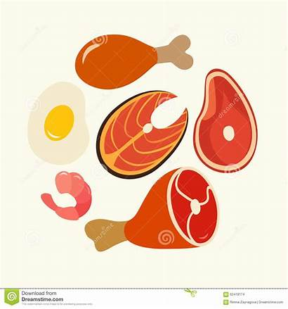 Protein Clipart Foods Healthy Vector Illustration Proteins