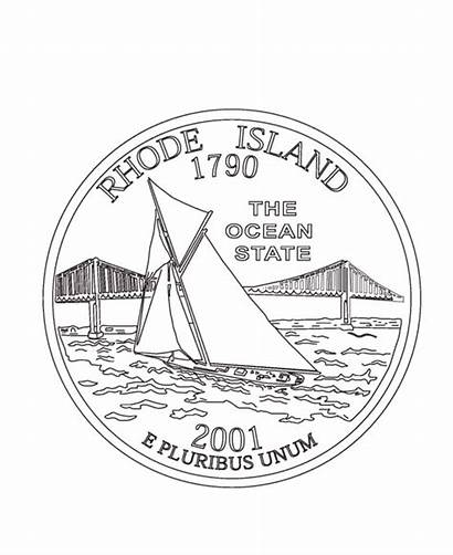 Quarter Rhode Island State Coloring Pages States