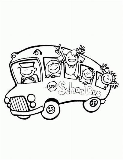Bus Coloring Pages August Preschool Vw Clipart