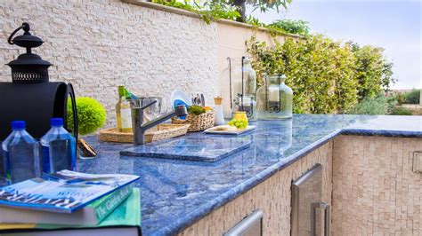 blue tile kitchen countertop tile outdoor kitchen with smooth blue marble 4844
