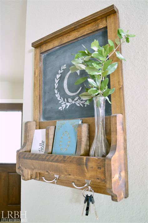 Wall Organizer With Chalkboard  Little Red Brick House