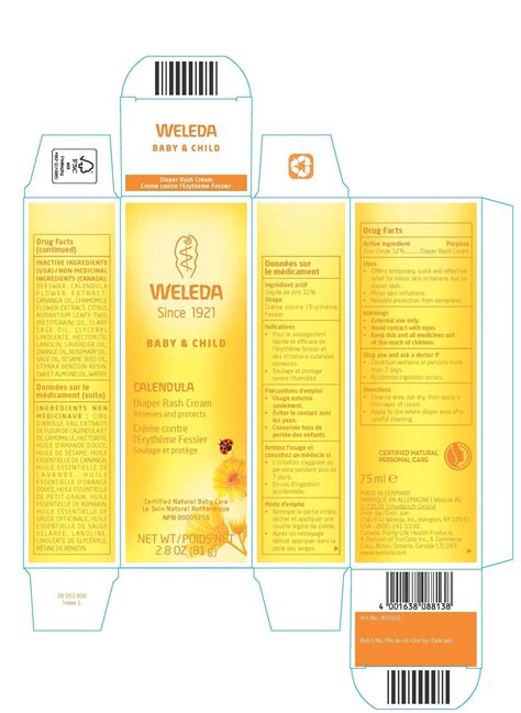 Dailymed Calendula Diaper Rash Cream Zinc Oxide Cream