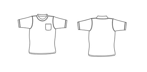pocket t shirt template pocket outline