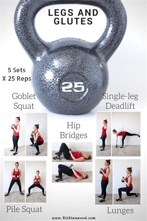 kettlebell workout leg circuit glutes legs routine workouts routines 25lb exercises glute powerful training fitness kettlebells bell crossfit muscles weight