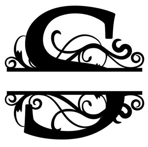 monogram letter die cut vinyl decal pv snc split