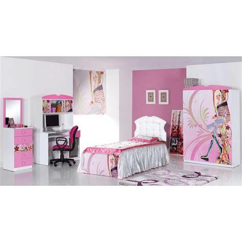 image chambre fille chambre fille complète 3 pièces lit bureau