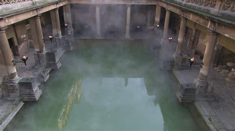 roman baths  bath city bath england hd stock