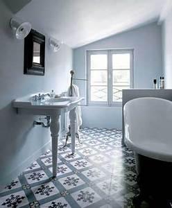Carreaux De Ciment Salle De Bain : les carreaux de ciment subliment la d co de la salle de bain ~ Melissatoandfro.com Idées de Décoration