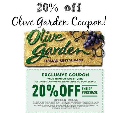 olive garden specials coupons printable olive garden