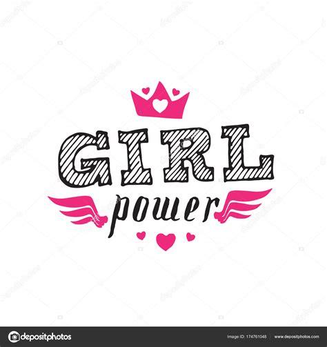 frauenpower feminismus slogan mit handgezeichneten