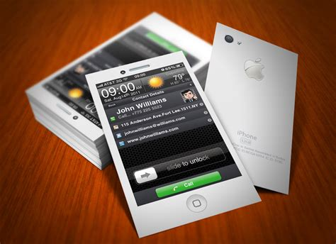 iphone card iphone business card white by cacadoo on deviantart