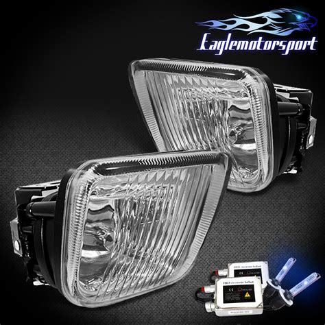 hid fog lights 96 98 honda civic ek jdm clear fog lights 8000k hid