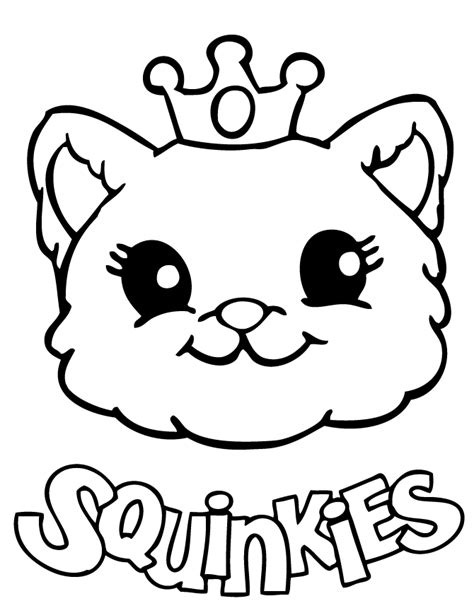 cute squinkies cat coloring page   coloring pages