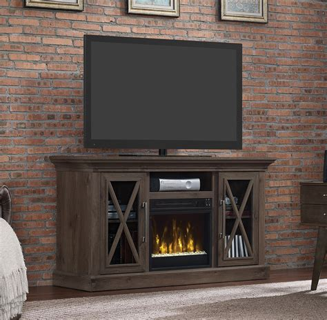 media fireplace tv stand 53 8 quot mar gray tv entertainment media stand w 7417