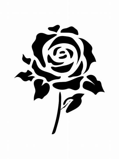 Stencils Rose Printable Pages Mycoloring A4