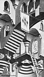 Optische Täuschung Tattoo : escher2 traumhaus kunst k nstler und malerei ~ Buech-reservation.com Haus und Dekorationen