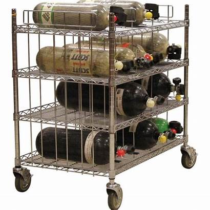 Scba Bottle Rack Mobile Cart Bottles Shelf