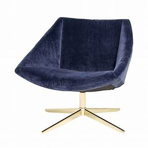 Fauteuil Velours Bleu : fauteuil velours bleu et pieds or elegant bloomingville ~ Teatrodelosmanantiales.com Idées de Décoration