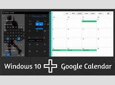 How to Integrate Google Calendar in Windows 10 Calender App
