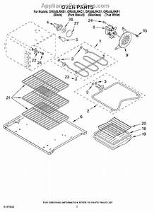 Parts For Whirlpool Gr556lrks1  Oven Parts