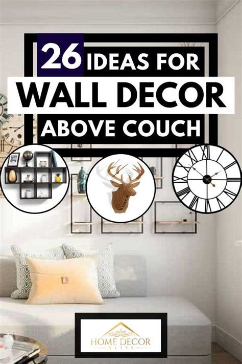 Painting a textured wall can enhance the effect further. 26 Ideas For Wall Decor Above Couch. Article by HomeDecorBliss.com #HomeDecorBliss #HDB #home # ...