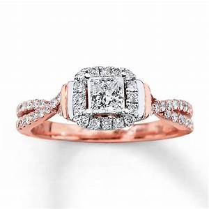 rose gold princess cut wedding rings a great choice for With rosegold wedding rings