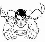 Superman Pages Steel Coloring Real Print Atom Origin Getcoloringpages sketch template