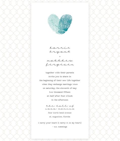 fingerprint wedding invitation wedding shower baby