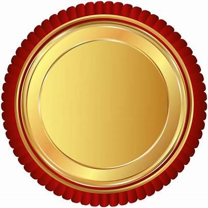 Seal Badge Transparent Clipart Clip Ribbon Round