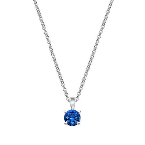 metal drop necklace four prong blue sapphire necklace brilliant earth