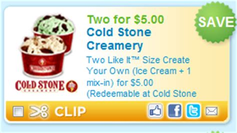 new printable coupon cold creamery 5 for 2 create