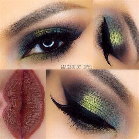 eye makeup   brown eyes makeup  green eyes green eyeshadow makeup