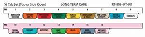 Poly Medical Chart Dividers Dyalysis Poly Chart Divider Set 16 Tabs Chart Pro