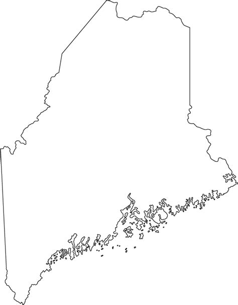 outline map  maine