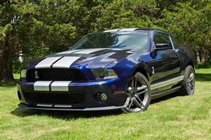 Used 2010 Ford Mustang GT500 Kona Blue with Silver Stripes 6 Speed Manual for sale