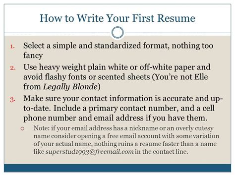 How To Write A Resume If You Re A finding your ppt