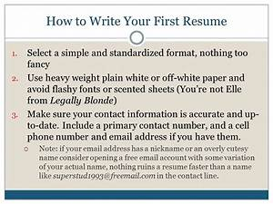 finding your first job ppt video online download With how to write your first resume